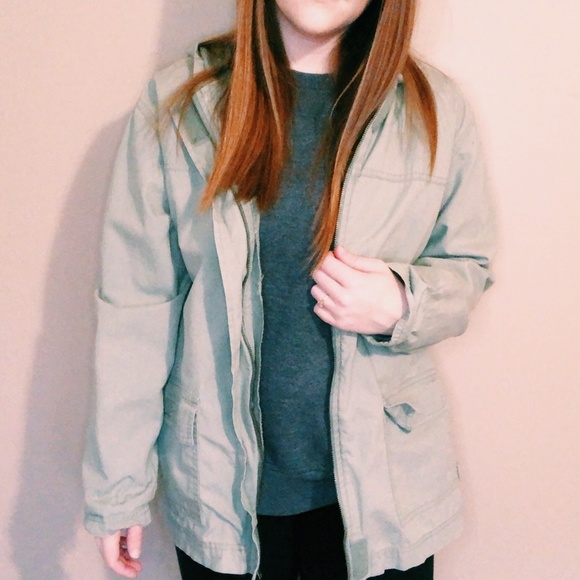 Blassport Jackets & Blazers - Vintage Sage Green Blassport Utility Jacket